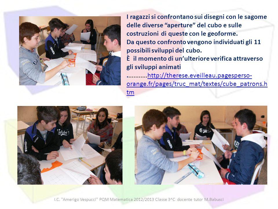 I.C. Amerigo Vespucci PQM Matematica 2012/2013 Classe 3^C docente tutor M.