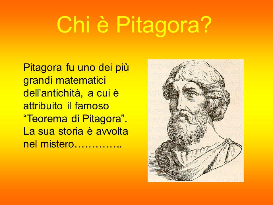 Chi è Pitagora? Pitagora fu uno dei più grandi matematici dellantichità, a cui è attribuito il famoso Teorema di Pitagora. La sua storia è avvolta nel