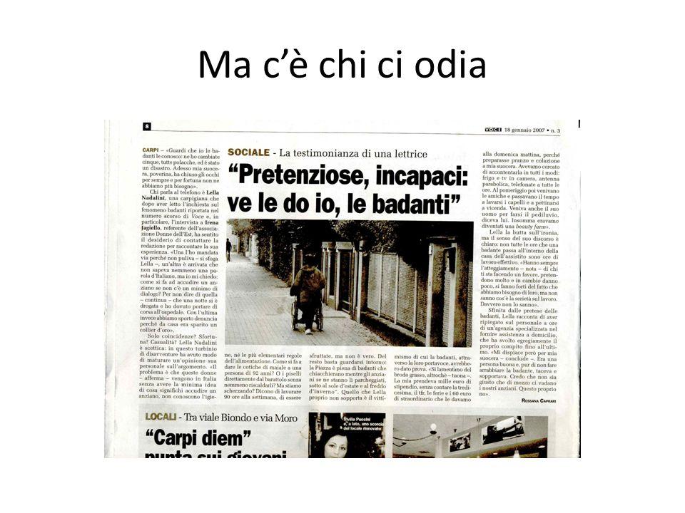 Insieme agli Italiani Linserimento è molto importante….