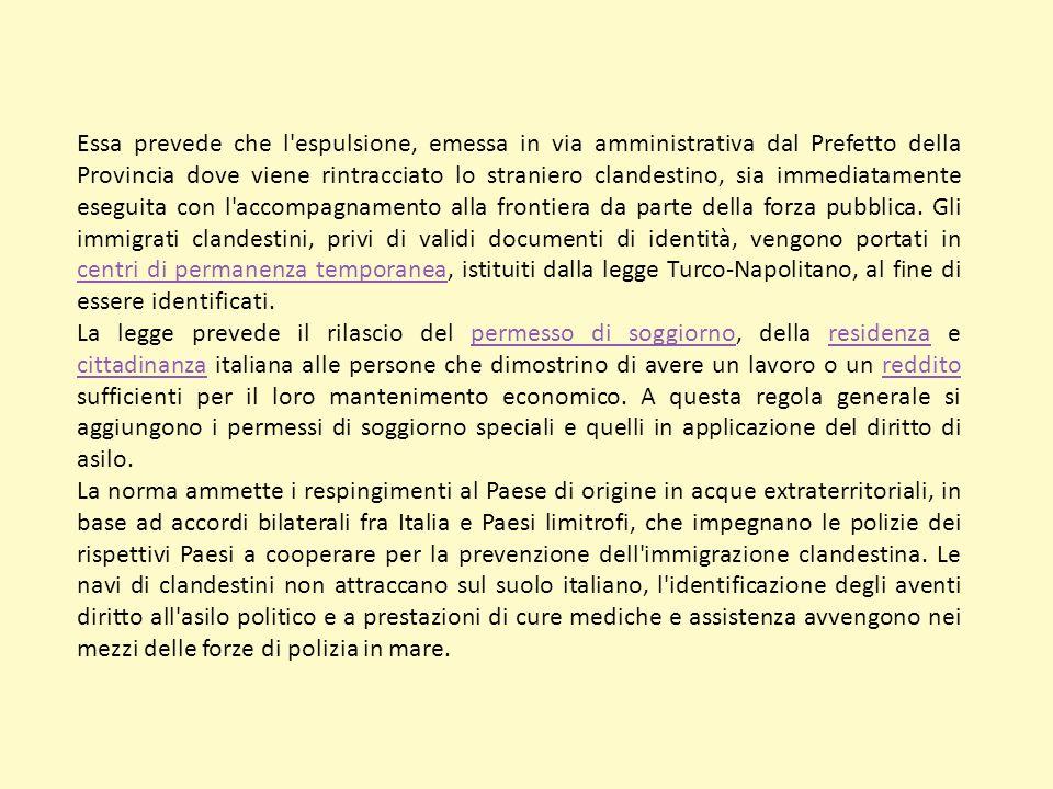 Legge Bossi Fini La Legge Bossi Fini è l'espressione d'uso comune che indica la legge della Repubblica italiana 30 luglio 2002, n.189, varata dal Parl