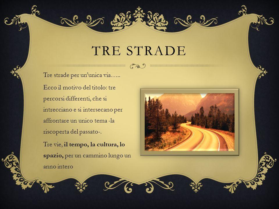 TRE STRADE Tre strade per ununica via….. Ecco il motivo del titolo: tre percorsi differenti, che si intrecciano e si intersecano per affrontare un uni