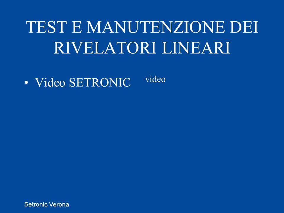 Setronic Verona Video SETRONIC video TEST E MANUTENZIONE DEI RIVELATORI LINEARI