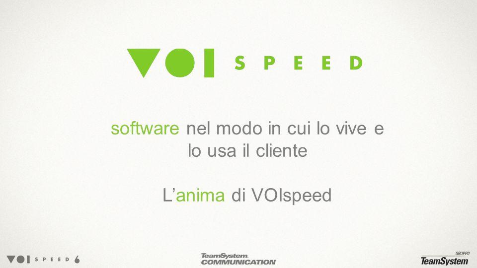 software nel modo in cui lo vive e lo usa il cliente Lanima di VOIspeed