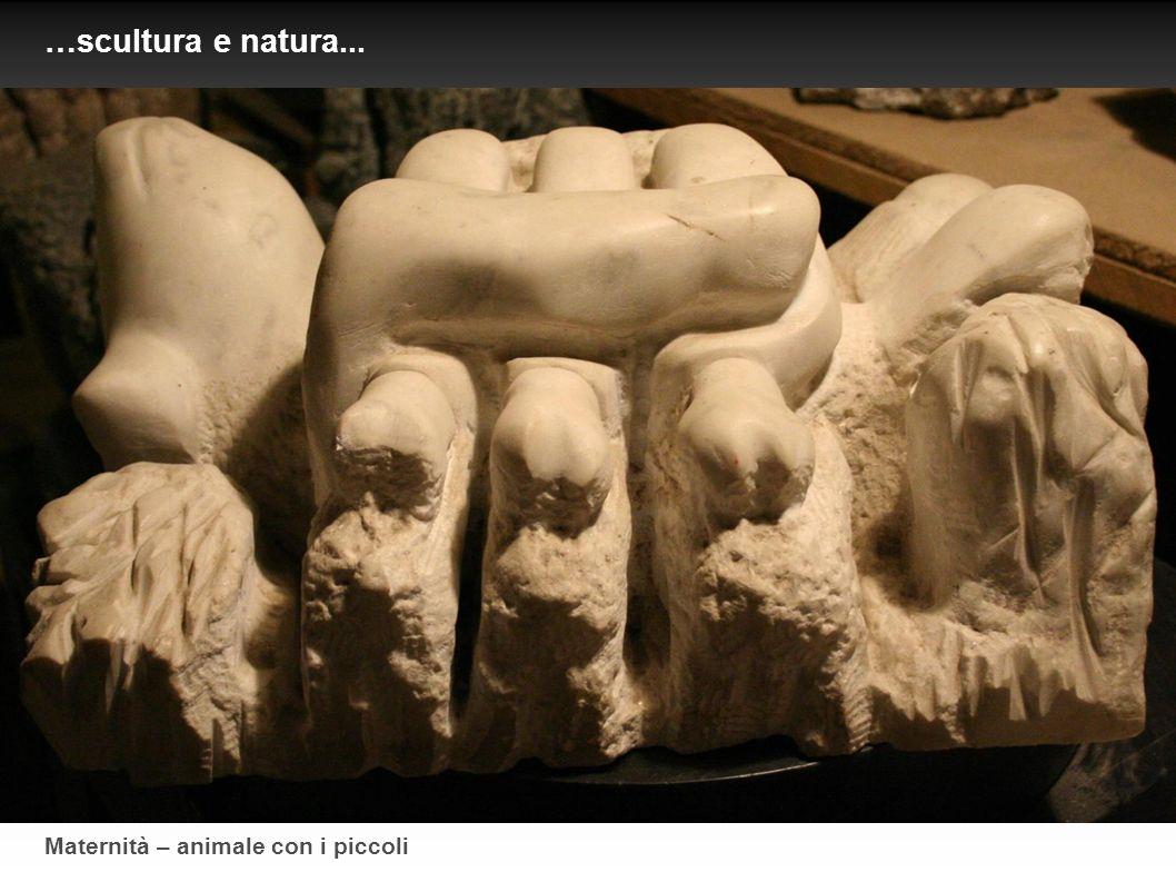 Maternità – animale con i piccoli …scultura e natura...