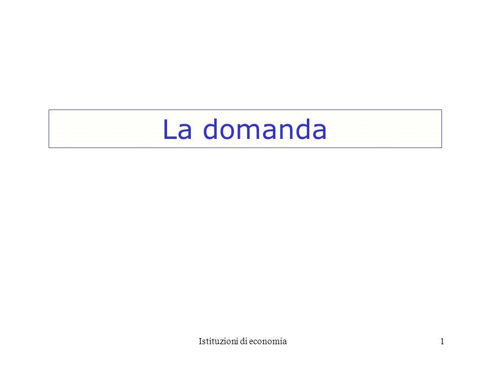 Istituzioni di economia22 Domanda rigida (anelastica) 5 4 Quantità 100090 Domanda 1.