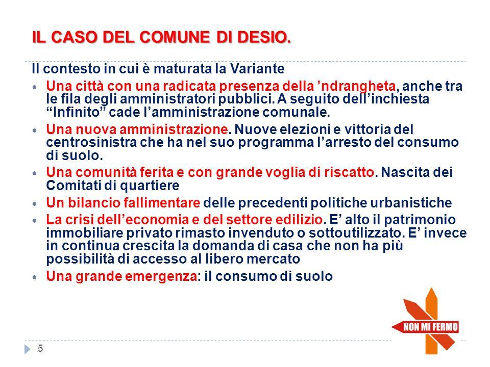 IL CASO DEL COMUNE DI DESIO.