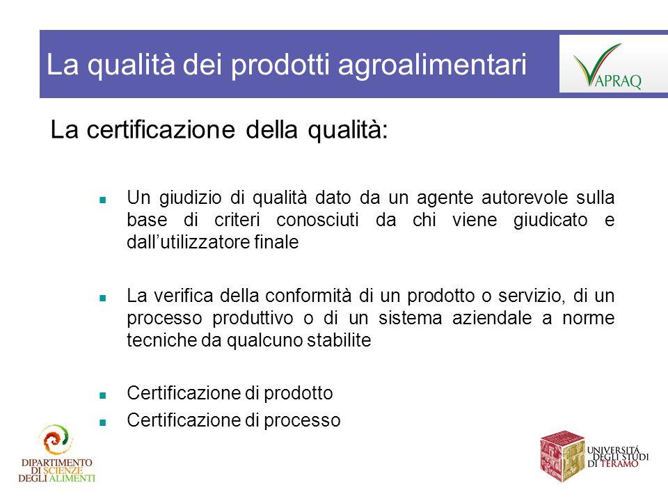 La certificazione della qualità: Un giudizio di qualità dato da un agente autorevole sulla base di criteri conosciuti da chi viene giudicato e dalluti