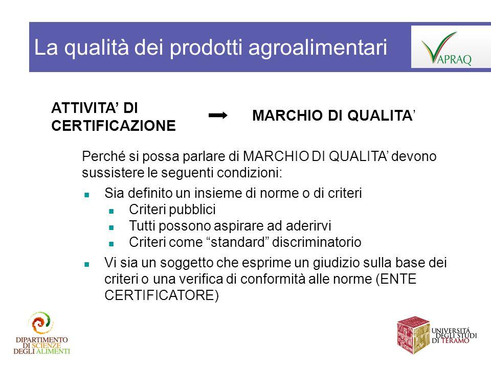 Possono i sistemi di garanzia della qualità creare maggior valore aggiunto ai produttori.