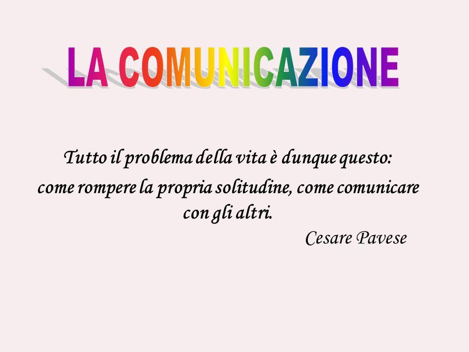 Tutto il problema della vita è dunque questo: come rompere la propria solitudine, come comunicare con gli altri. Cesare Pavese