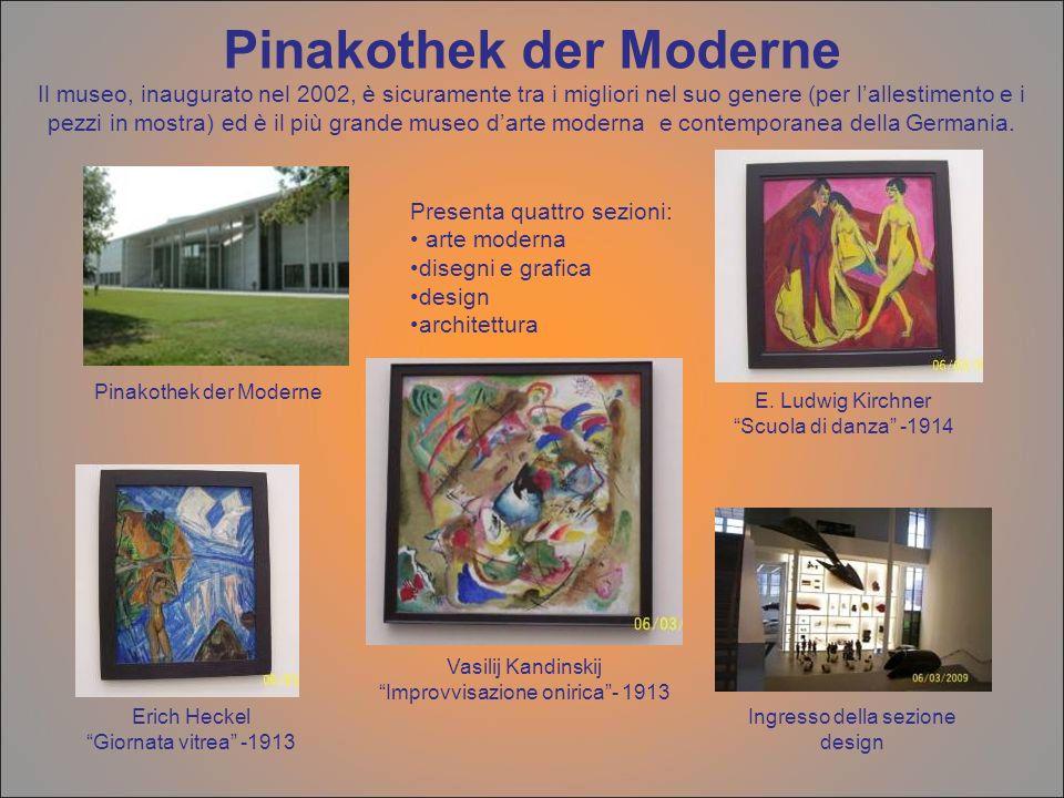 Pinakothek der Moderne Il museo, inaugurato nel 2002, è sicuramente tra i migliori nel suo genere (per lallestimento e i pezzi in mostra) ed è il più