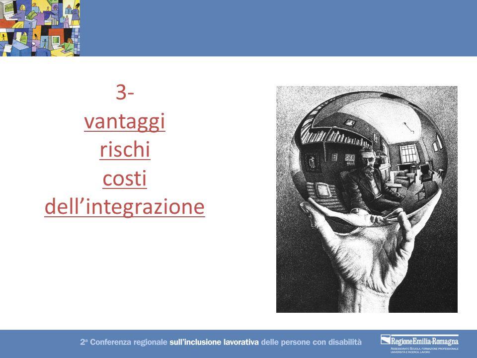 3- vantaggi rischi costi dellintegrazione