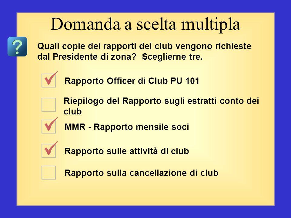 Quali sono le valutazioni del vostro club? MMR - Rapporto mensile soci Campagna di conservazione dei soci del presidente Procedura per Club Excellence