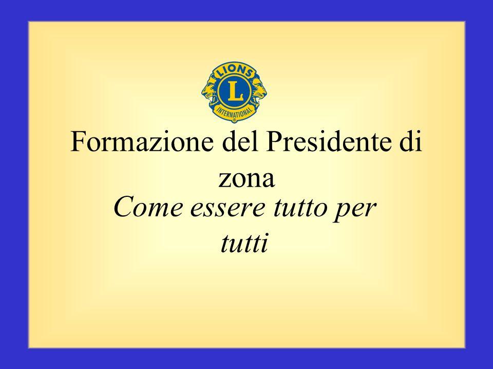 Conclusione Voi, come Presidenti di zona, avete molte responsabilità e siete membri fondamentali del gabinetto distrettuale. Voi trasmettete important