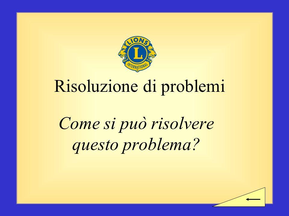 Pausa? Avete bisogno di fare una pausa prima di iniziare la sezione successiva sulla risoluzione dei problemi?