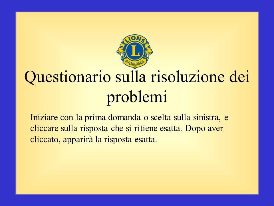 Riepilogo La capacità di risolvere i problemi è una qualità essenziale per un Presidente di zona. Ricordarsi di risolvere un problema al più presto, u