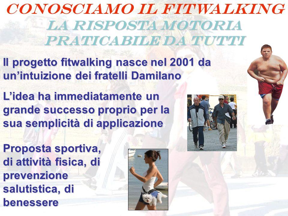 Conosciamo il FITWALKING LA RISPOSTA MOTORIA PRATICABILE DA TUTTI Il progetto fitwalking nasce nel 2001 da unintuizione dei fratelli Damilano Lidea ha