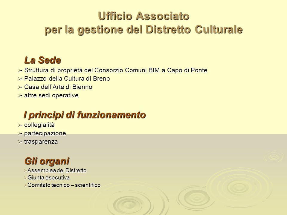 Ufficio Associato per la gestione del Distretto Culturale La Sede - Struttura di proprietà del Consorzio Comuni BIM a Capo di Ponte - Struttura di pro