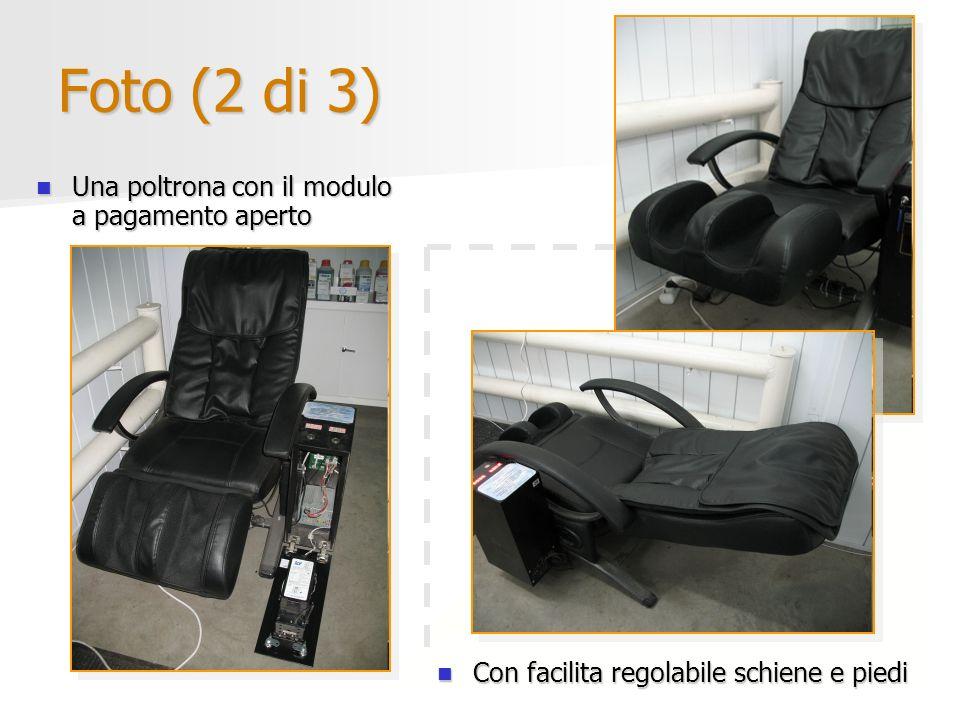 Foto (2 di 3) Una poltrona con il modulo a pagamento aperto Una poltrona con il modulo a pagamento aperto Con facilita regolabile schiene e piedi Con