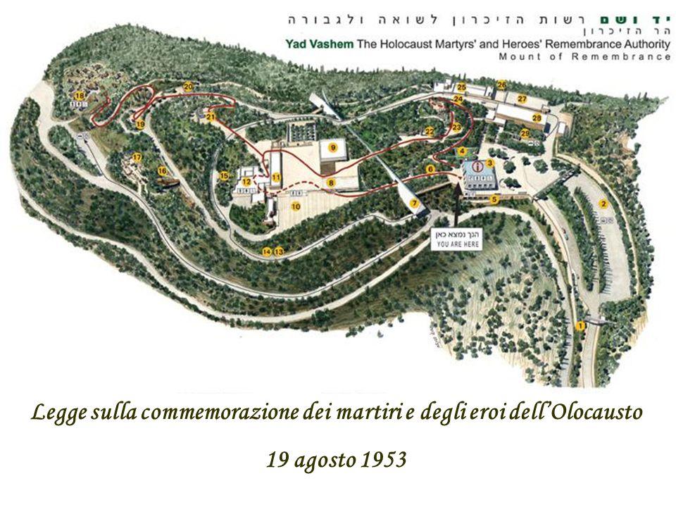 Legge sulla commemorazione dei martiri e degli eroi dellOlocausto 19 agosto 1953