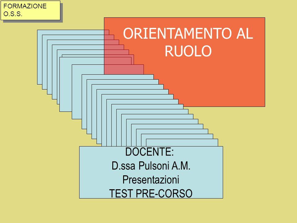 PROCESSO DI ASSISTENZA PRIMA FASE: individuazione e definizione del problema.