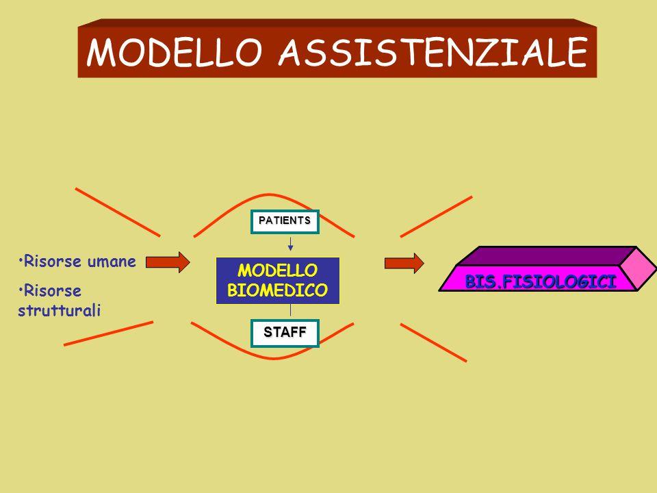 INPUT OUTPUT PROCESSO ORGANIZZATIVO MODELLO ASSISTENZIALE PATIENTS STAFF