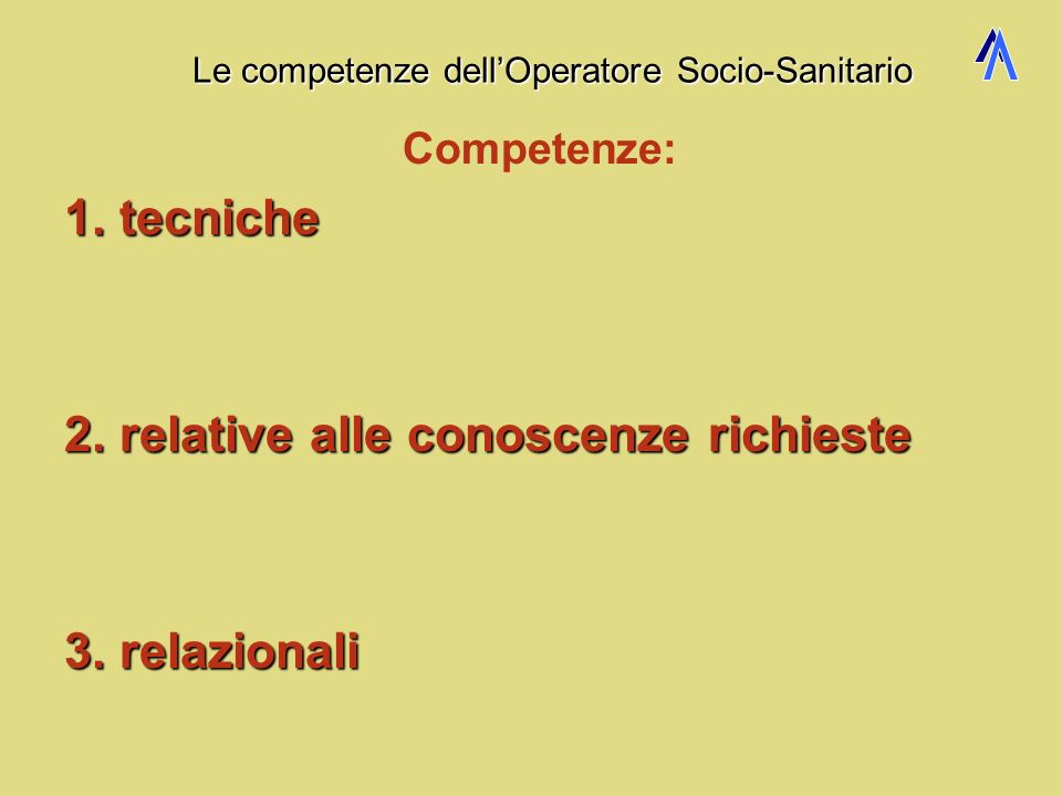 condizioni di conformità per il corretto impiego dellOSS e dellinfermiere 3 Supporto gestionale, organizzativo e formativo utilizza strumenti informat