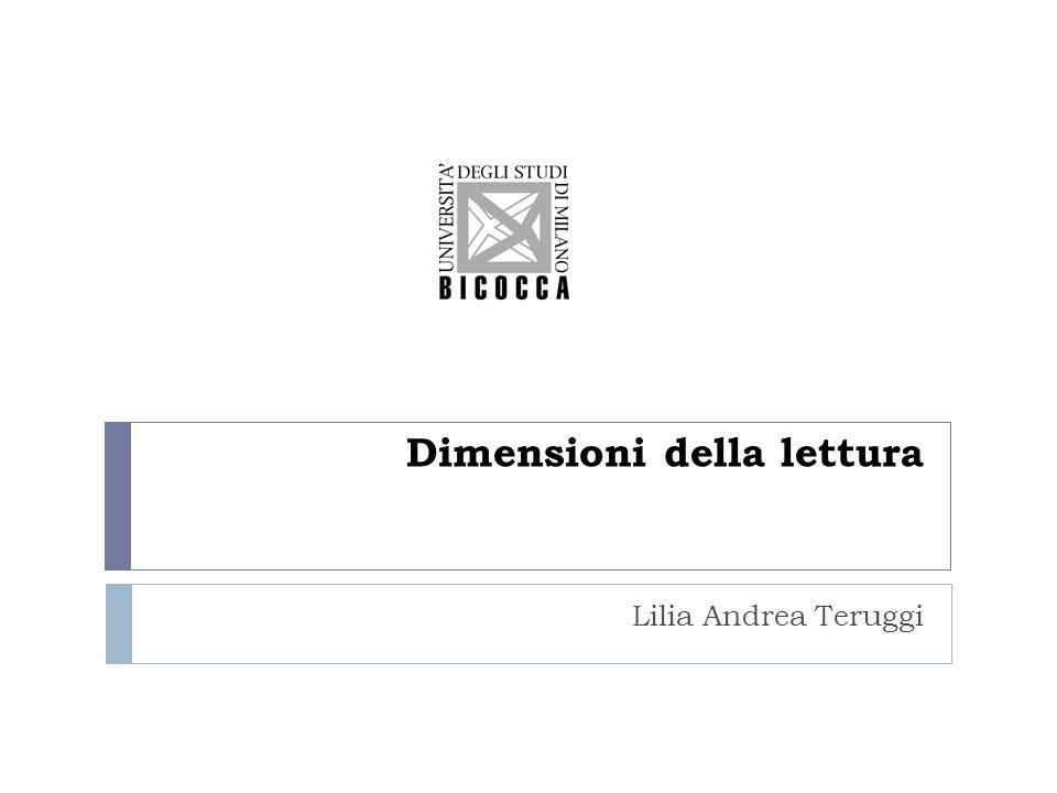 Dimensioni della lettura Lilia Andrea Teruggi