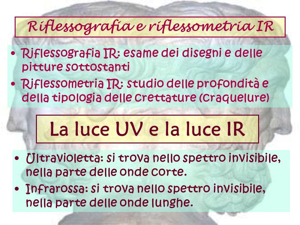 Riflessografia e riflessometria IR Riflessografia IR: esame dei disegni e delle pitture sottostanti Riflessometria IR: studio delle profondità e della