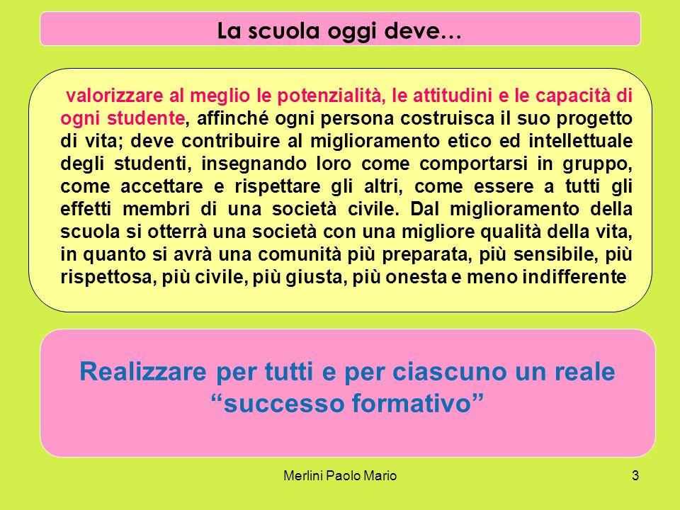 Merlini Paolo Mario3 valorizzare al meglio le potenzialità, le attitudini e le capacità di ogni studente, affinché ogni persona costruisca il suo prog