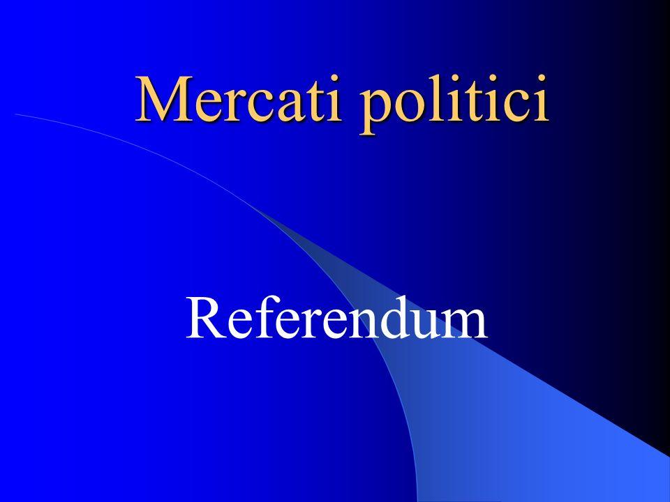 Mercati politici Referendum