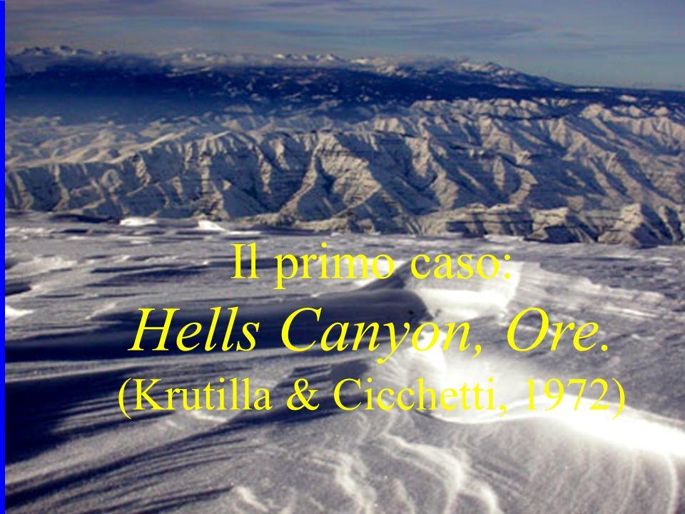 Il primo caso: Hells Canyon, Ore. (Krutilla & Cicchetti, 1972)