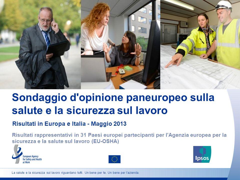 Sondaggio d'opinione paneuropeo sulla salute e la sicurezza sul lavoro Risultati in Europa e Italia - Maggio 2013 Risultati rappresentativi in 31 Paes