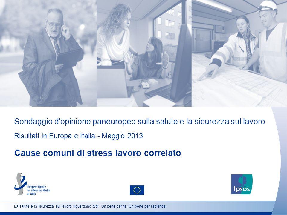 Sondaggio d'opinione paneuropeo sulla salute e la sicurezza sul lavoro Risultati in Europa e Italia - Maggio 2013 Cause comuni di stress lavoro correl