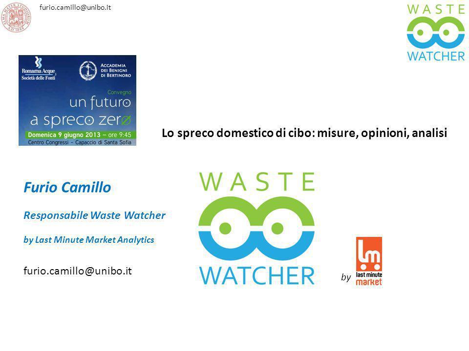 furio.camillo@unibo.it Furio Camillo Responsabile Waste Watcher by Last Minute Market Analytics furio.camillo@unibo.it Lo spreco domestico di cibo: mi