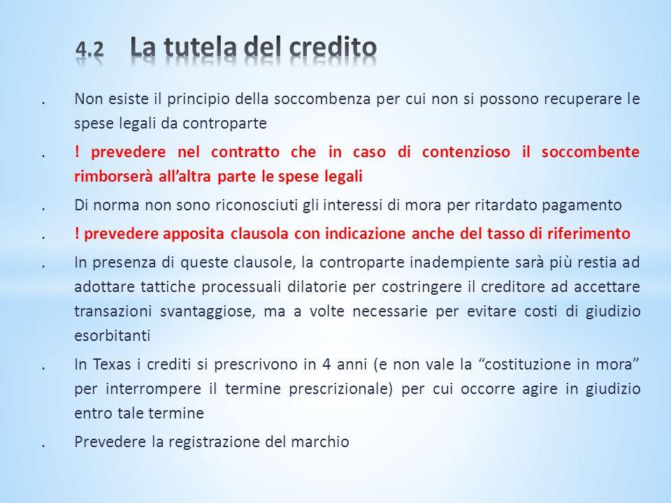 .Non esiste il principio della soccombenza per cui non si possono recuperare le spese legali da controparte.! prevedere nel contratto che in caso di c