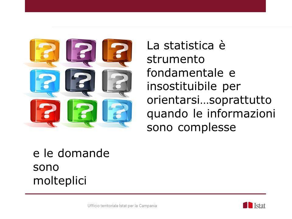 La statistica è strumento fondamentale e insostituibile per orientarsi…soprattutto quando le informazioni sono complesse e le domande sono molteplici Ufficio territoriale Istat per la Campania