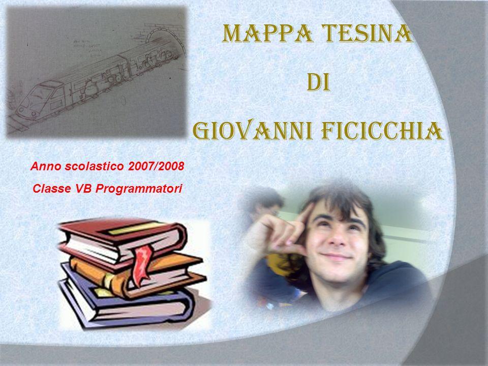 Mappa tesina di Giovanni Ficicchia Anno scolastico 2007/2008 Classe VB Programmatori