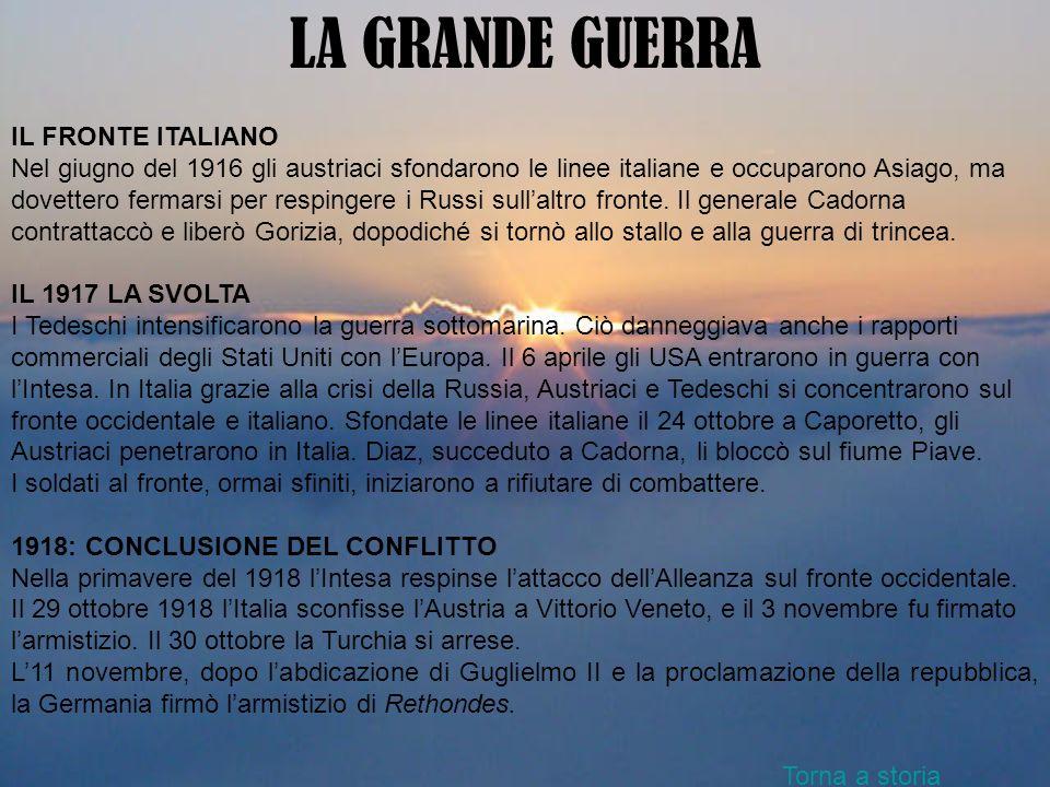 LA GRANDE GUERRA IL FRONTE ITALIANO Nel giugno del 1916 gli austriaci sfondarono le linee italiane e occuparono Asiago, ma dovettero fermarsi per resp