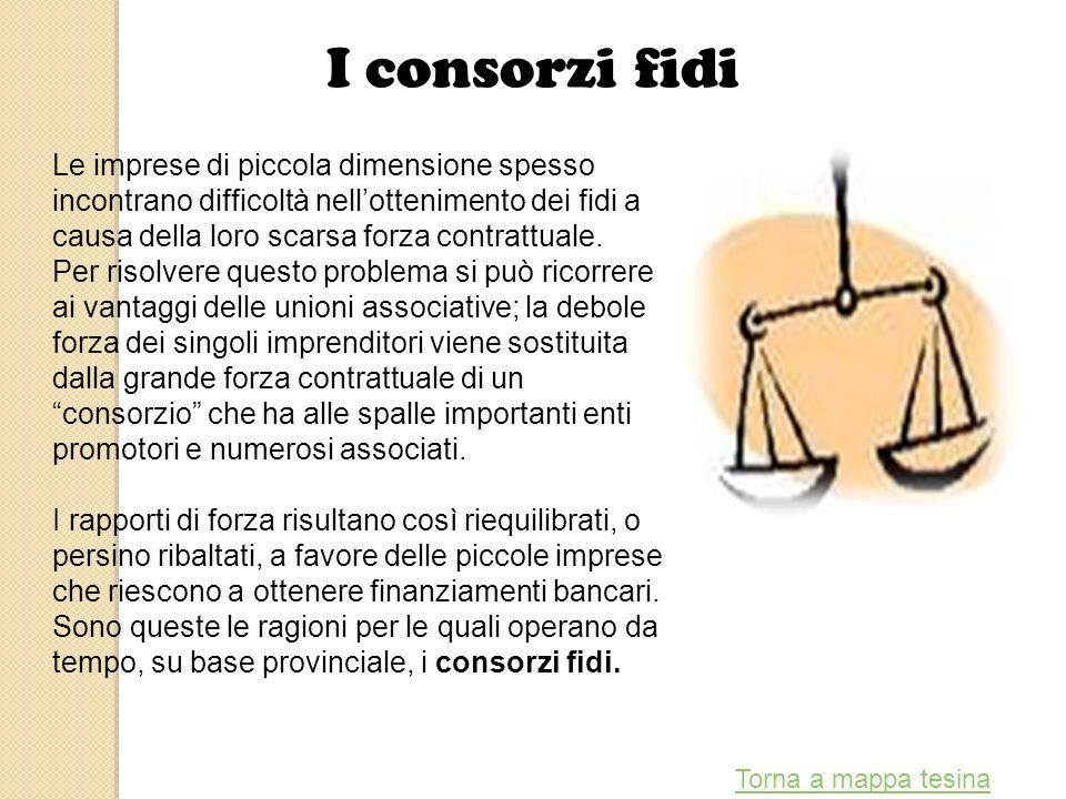 I consorzi fidi Le imprese di piccola dimensione spesso incontrano difficoltà nellottenimento dei fidi a causa della loro scarsa forza contrattuale. P