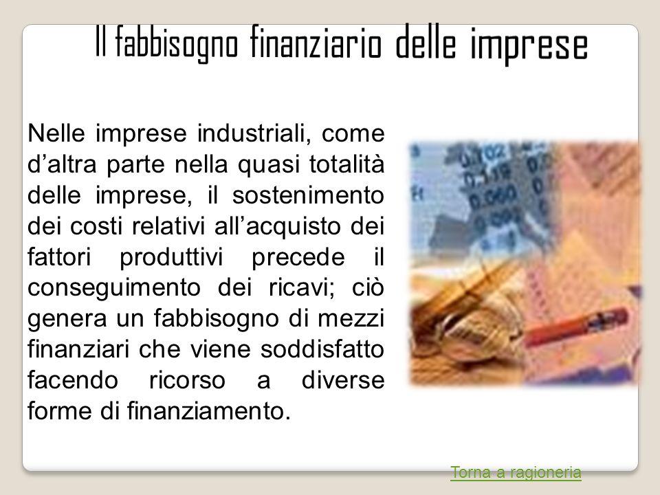 Nelle imprese industriali, come daltra parte nella quasi totalità delle imprese, il sostenimento dei costi relativi allacquisto dei fattori produttivi