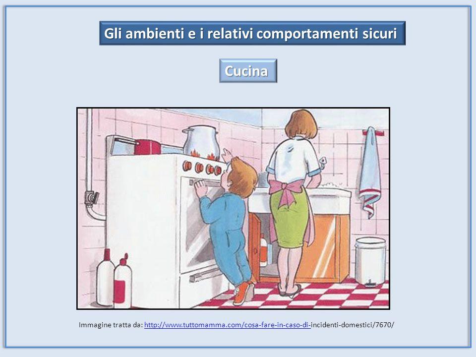 Gli ambienti e i relativi comportamenti sicuri Cucina Immagine tratta da: http://www.tuttomamma.com/cosa-fare-in-caso-di-incidenti-domestici/7670/http