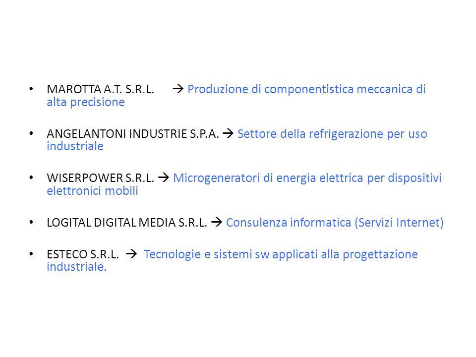 MAROTTA A.T. S.R.L. Produzione di componentistica meccanica di alta precisione ANGELANTONI INDUSTRIE S.P.A. Settore della refrigerazione per uso indus