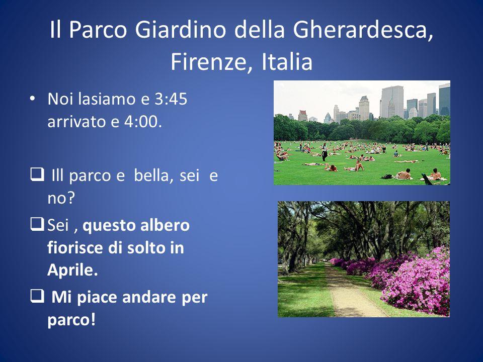 Il Parco Giardino della Gherardesca, Firenze, Italia Noi lasiamo e 3:45 arrivato e 4:00.