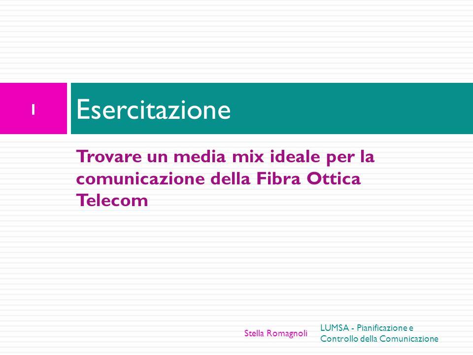 Trovare un media mix ideale per la comunicazione della Fibra Ottica Telecom Esercitazione 1 LUMSA - Pianificazione e Controllo della Comunicazione Ste