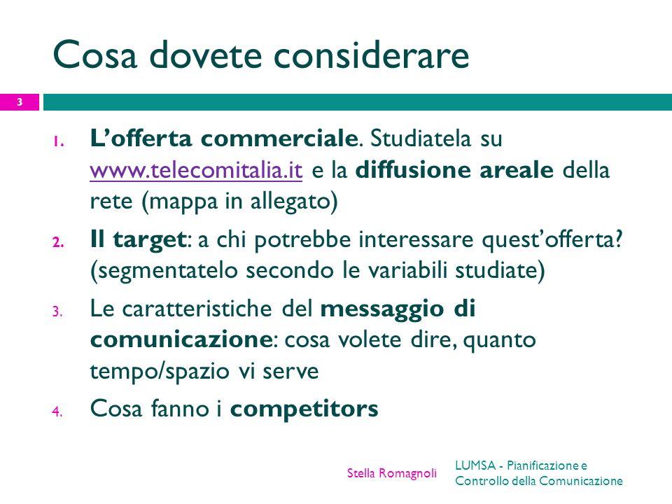Cosa dovete considerare 1. Lofferta commerciale. Studiatela su www.telecomitalia.it e la diffusione areale della rete (mappa in allegato) www.telecomi