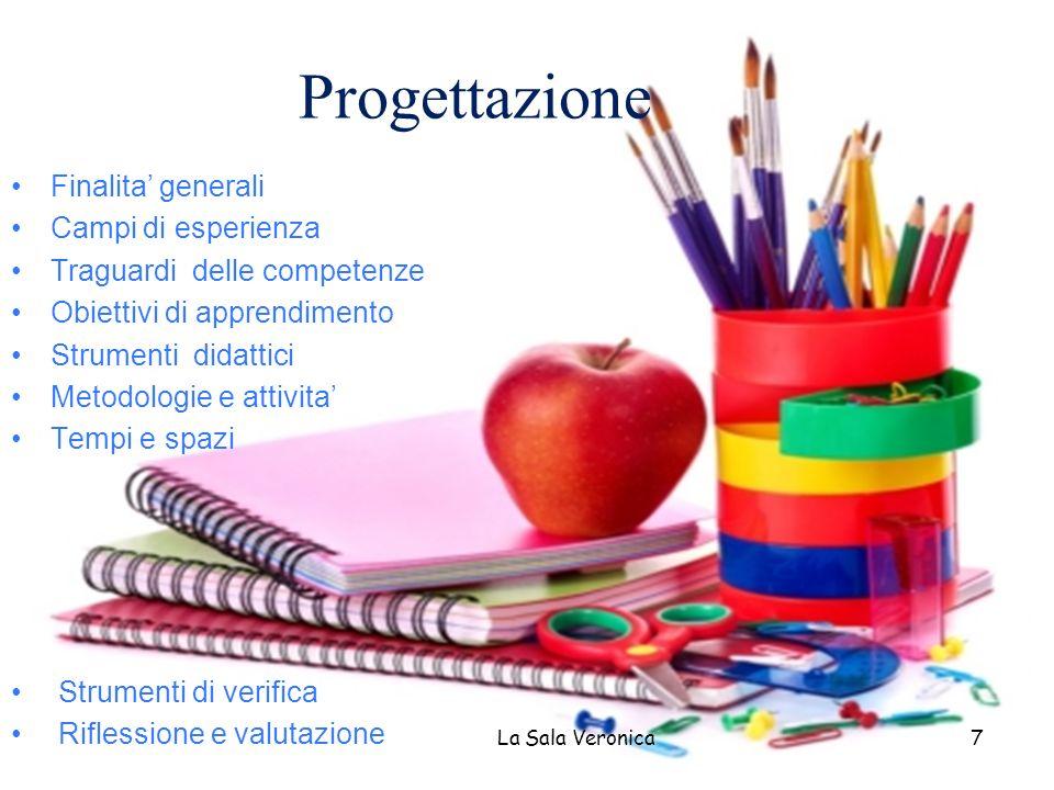 Progettazione Finalita generali Campi di esperienza Traguardi delle competenze Obiettivi di apprendimento Strumenti didattici Metodologie e attivita T