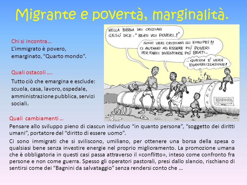 Migrante e povertà, marginalità.