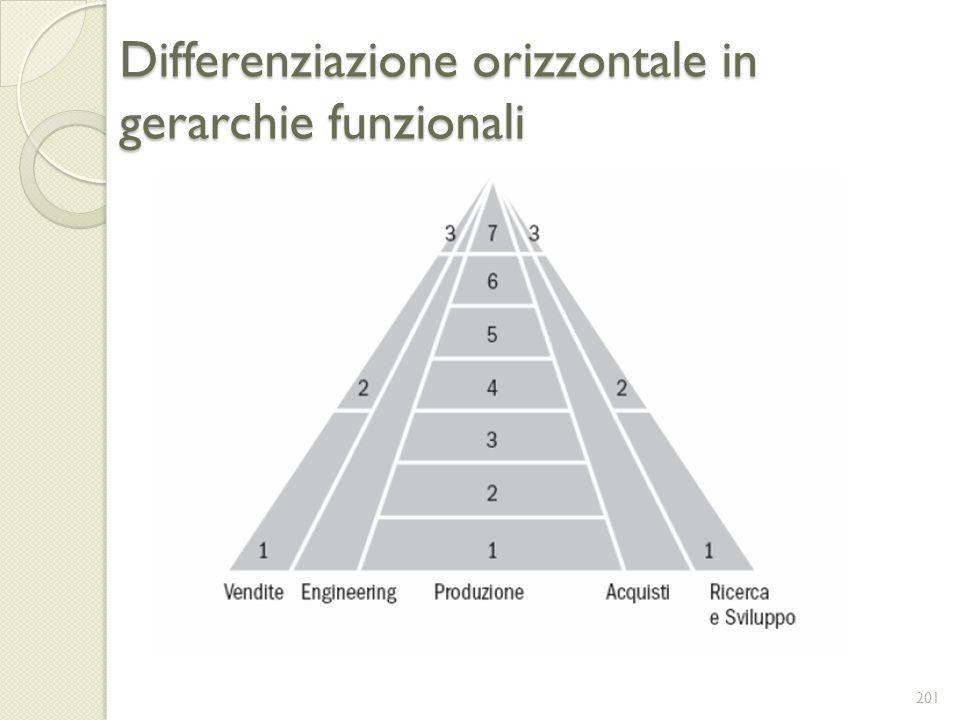 Differenziazione orizzontale in gerarchie funzionali 201