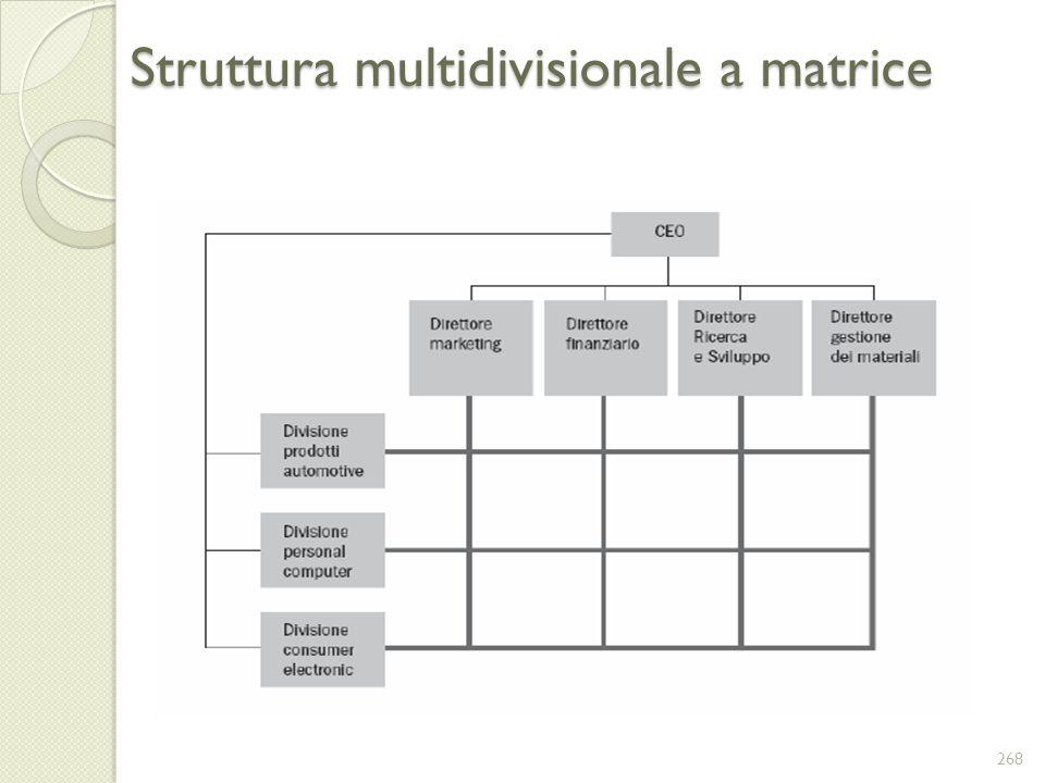 Struttura multidivisionale a matrice 268