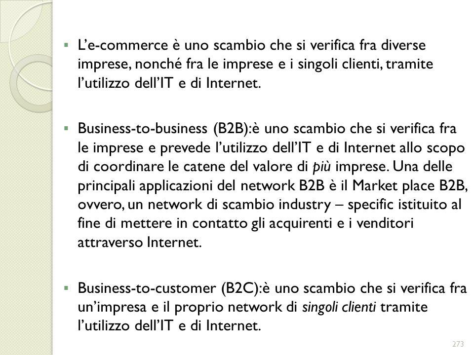 Le-commerce è uno scambio che si verifica fra diverse imprese, nonché fra le imprese e i singoli clienti, tramite lutilizzo dellIT e di Internet. Busi